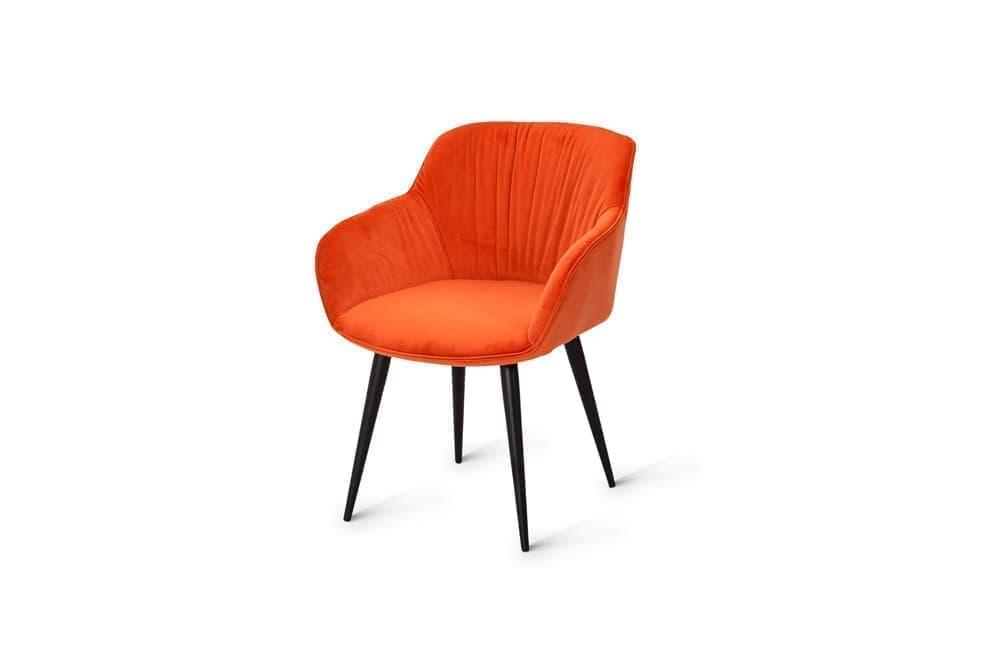 Стул для гостиной металлический B146 – оранжевый фото