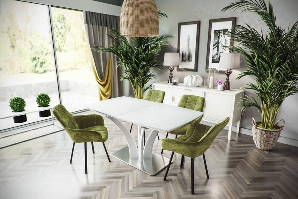 Стол лакированный обеденный раздвижной FLORA – Прямоугольный
