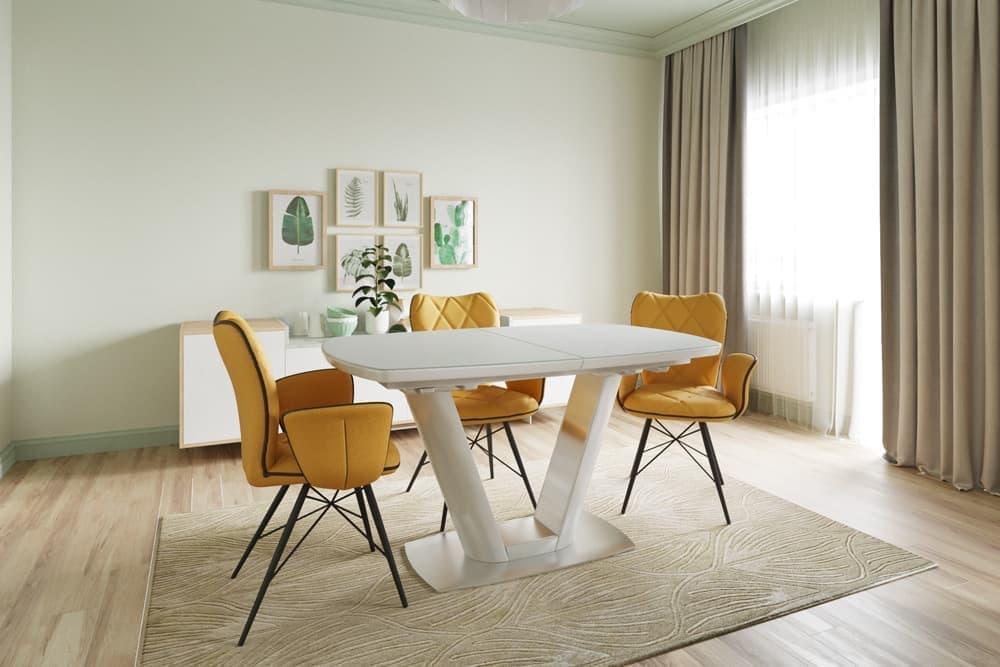 Стол лакированный обеденный раскладной MIAMI – Прямоугольный
