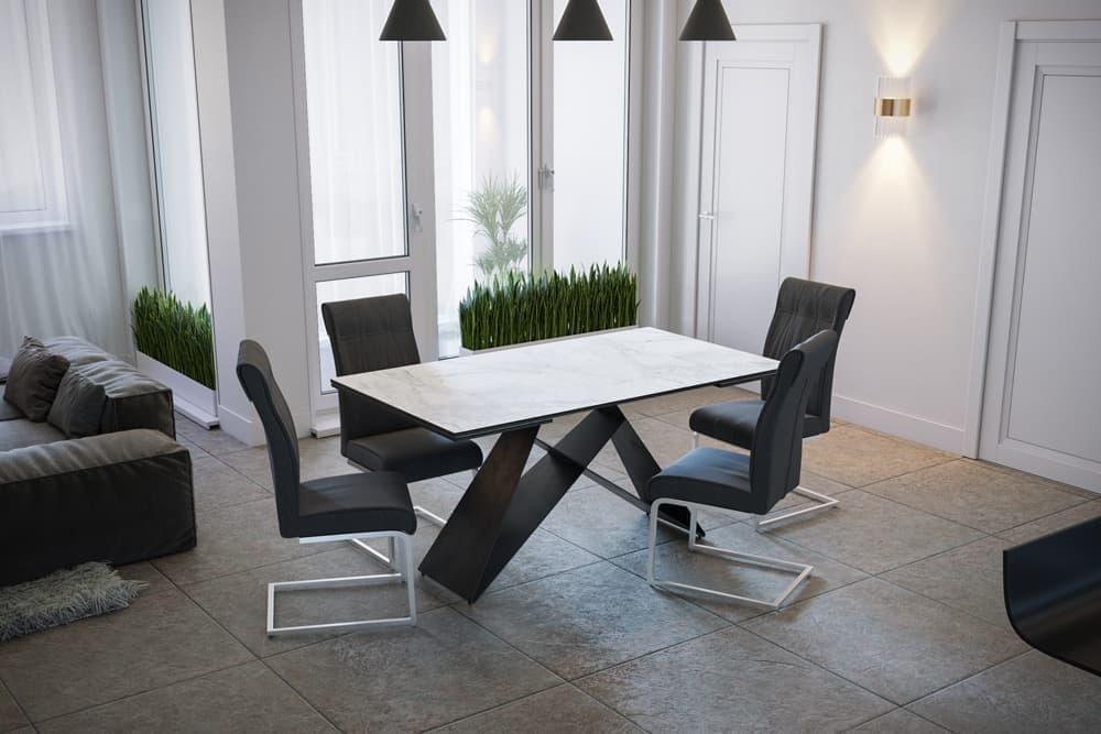 Стол лакированный обеденный раздвижной BERLIN – Прямоугольный