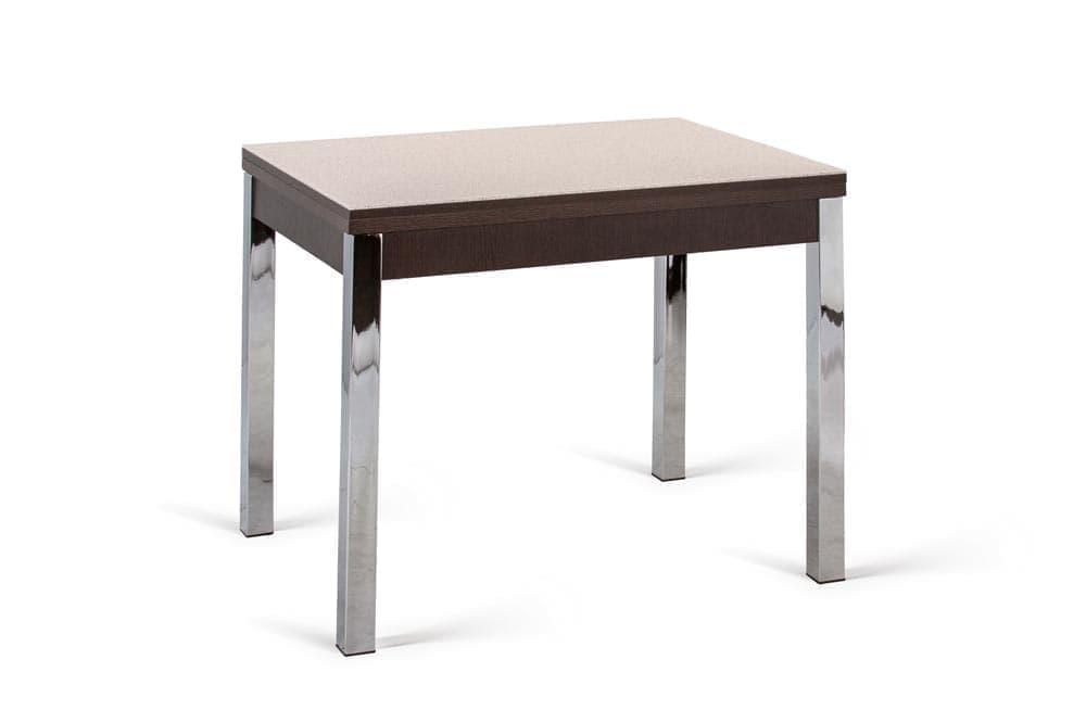 Стол стеклянный раскладной KIT 90 GRST WE