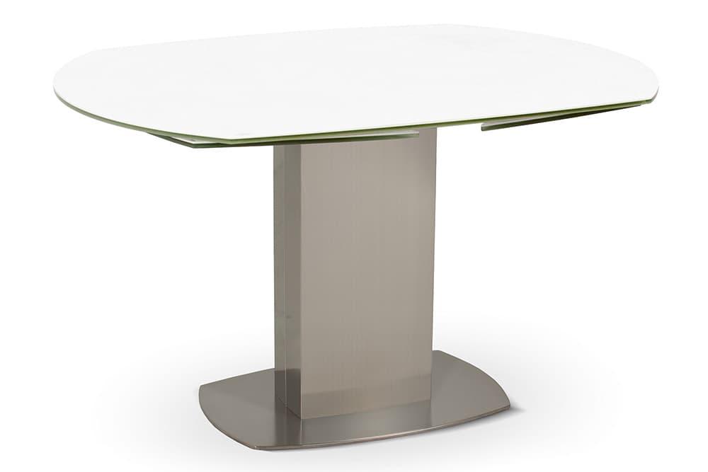 Стол лакированный обеденный раздвижной ORBITA – Овальный