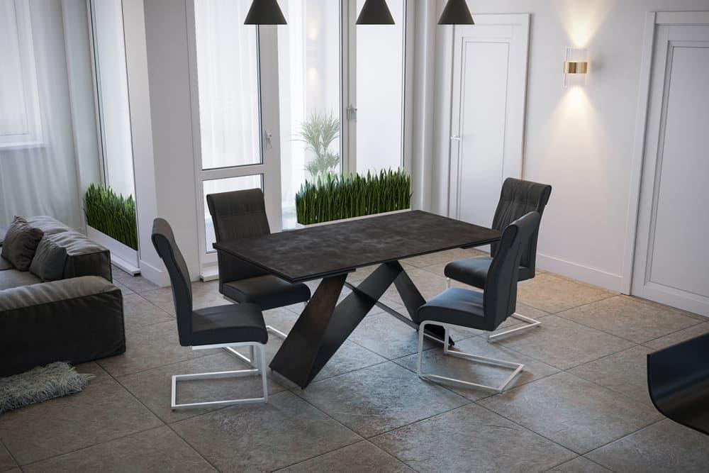 Стол лакированный обеденный раздвижной BERLIN – Прямоугольный AERO