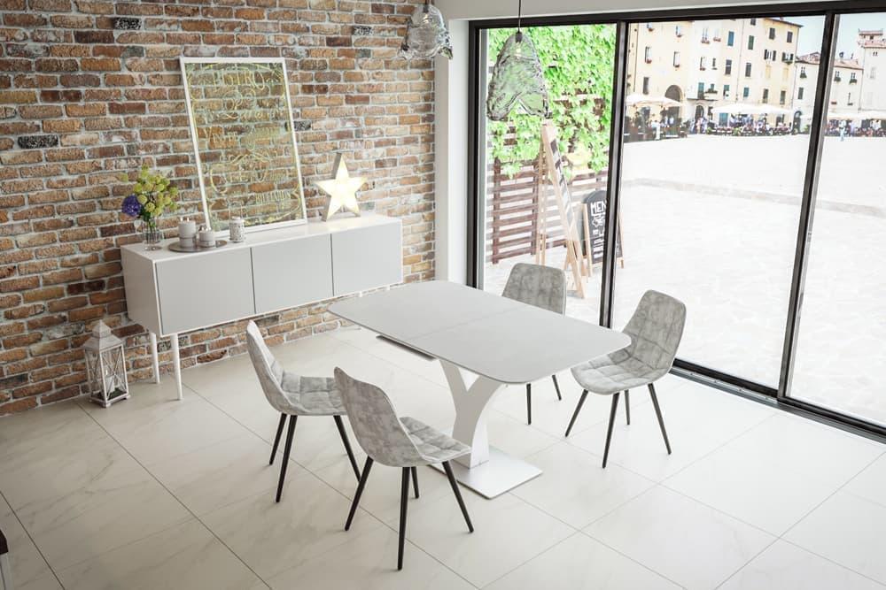 Стол лакированный обеденный раскладной FRANCE – Прямоугольный фото