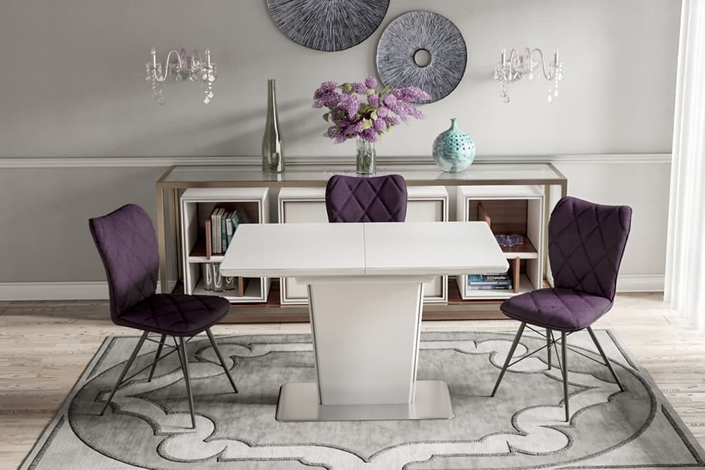 Стол лакированный обеденный раздвижной DALLAS – Прямоугольный