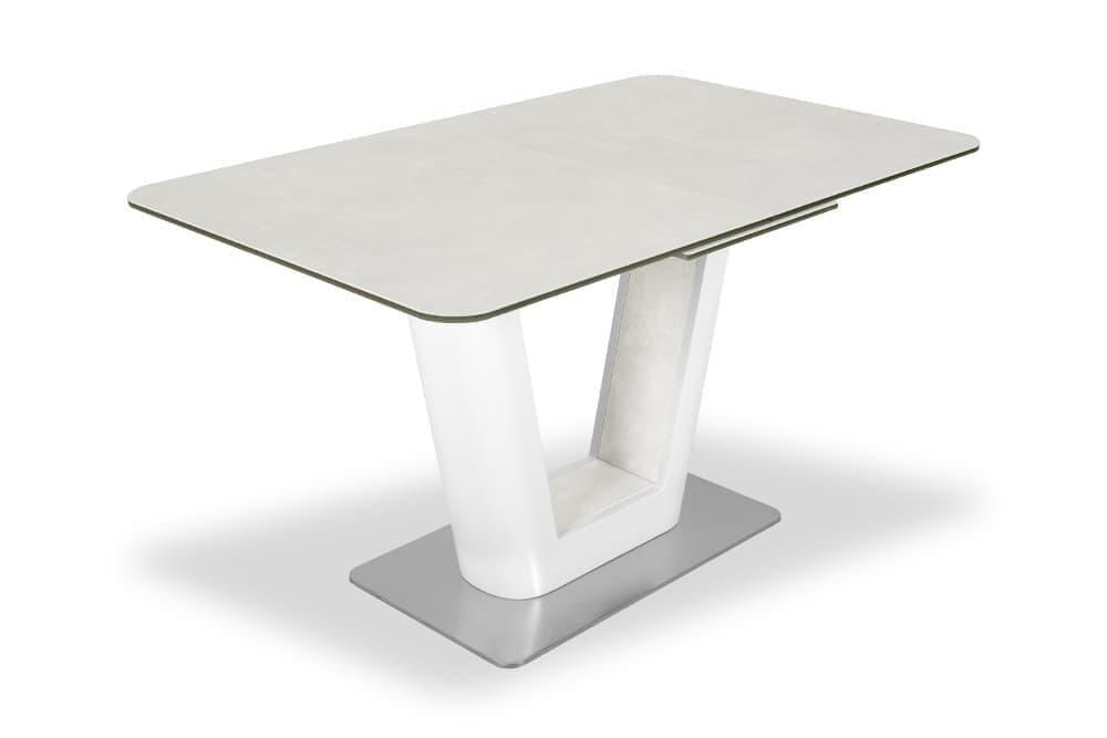 Стол лакированный раскладной SPAIN 160 SNOW CER