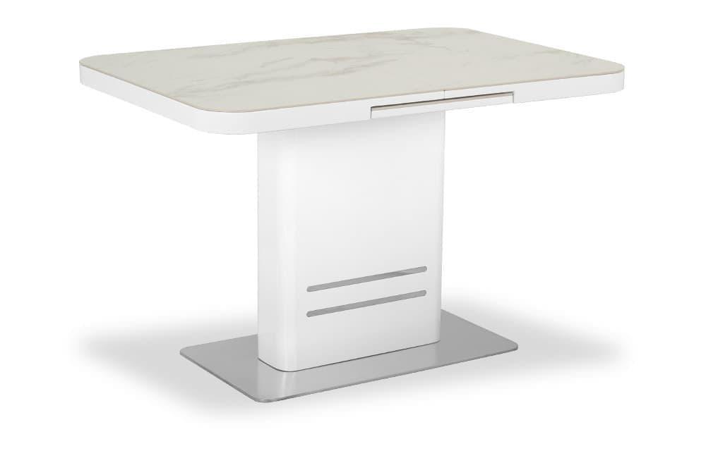 Стол лакированный обеденный раскладной SWEDEN – Прямоугольный