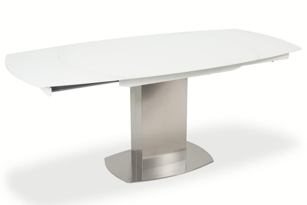 Стол лакированный обеденный раздвижной ORBITA – Овальный фото